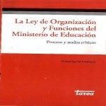 Libro de La Ley de Organización y Funciones del Ministerio de Educación. Procesos y nudos críticos