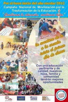 Actividades de TAREA en territorios – Año 2012