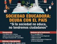 Imagen de Foro Educativo organiza Conferencia Nacional 2015 sobre la Sociedad Educadora que demanda el desarrollo del país