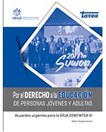 Libro de Por el derecho a la educación de personas jóvenes y adultas. Acuerdos urgentes para la EPJA. CONFINTEA VI